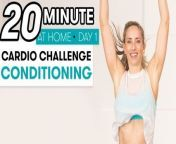 In the first of our six-part cardio challenge, fitness instructors Astrid Swan and Ridge Davis walk you through heart-pumping jumping jacks, high planks, quadrupeds and more.This workout is designed to help you gain strength and stability with cardio conditioning. So grab a mat, a bottle of water, and get ready to challenge yourSELF!