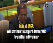 """Speaking in United Nations General Assembly (UNGA) over adoption of resolution on Myanmar, India's Permanent Representative to United Nations, TS Tirumurti said that India will continue to engage with measures to accelerate and support the democratic transition in Myanmar. """"India will continue to engage with measures to accelerate and support the democratic transition in Myanmar, so that the hopes and aspirations of the people of Myanmar are fully respected and met,"""" Tirumurti said. """"On repatriation of displaced persons from Rakhine state of Myanmar, as the only country that shares a long border with both Bangladesh & Myanmar, India has the highest stakes in resolving this issue at the earliest,"""" he added."""